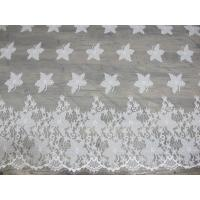 Buy cheap Cotton Eyelash Trim Embroidery Lace Fabric For Curtain And Clothing from wholesalers