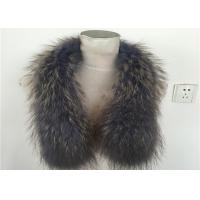 Buy cheap Eco-Friendly True 100% Raccoon Fur Collar Genuine Shawl Wrap Great from wholesalers