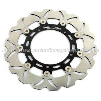 Buy cheap Aluminum Billet Motorcycle Brake Disc Disk Yamaha FAZER 8 YZF R6 Black Gold from wholesalers