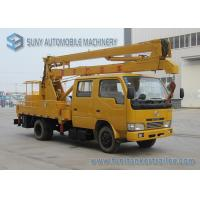 Buy cheap Professional DFAC 18m High Operation Boom Truck Rentals Yellow And White from wholesalers