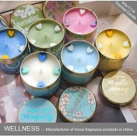 Buy cheap Soy Wax Scented Tin Candles , Handmade Non Toxic Long Lasting Scented Candles product