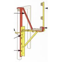 Buy cheap Roof Bracket Roof Hook Guard Rail Post Holder Steel Stand Custom Welding Fabrication from wholesalers