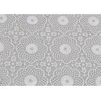 Buy cheap White Water Soluble Lace , Embroidered Guipure Venice Lace Fabric For Bridal from wholesalers