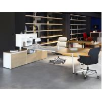 Buy cheap manager executive office desk wooden office desk on sale 2400*1200*750mm oak color luxury from wholesalers
