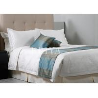Buy cheap Feather Style 300TC Luxury Hotel Bed Sets Cotton Soft Jacquard Fabric White or Customized from wholesalers