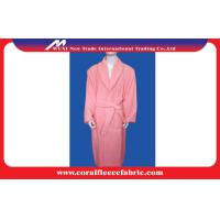 Buy cheap Microfiber Eco-friendly Coral Fleece Luxury Bathrobes , Women or Men Night-robe from wholesalers