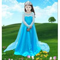 Buy cheap Girl Anna & Elsa Dress High-Grade Sequined Mesh Princess Girl Dresses For Party Performance Costume Snow Queen cosplay from wholesalers