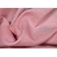 Buy cheap Soft Touch Cotton Yarn Dyed Fabric , Smooth Red And White Striped Material from wholesalers