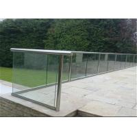Buy cheap CE standard glass Aluminum U Channel Glass Railing for villa from wholesalers