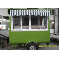 Buy cheap Hot Dog Food Truck Mobile Cooking Trailers Dark Green With Gas Equipments from wholesalers