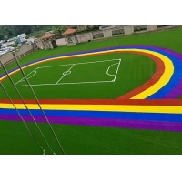 Buy cheap Purple Blue Yellow Coloured Synthetic Grass Colored Astroturf product