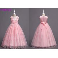 Buy cheap Child Floral Light Pink Flower Girl Dresses , 3-8 Year Flower Girl Bridesmaid Dresses from wholesalers