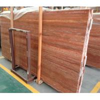 Buy cheap Red travertine polished marble floor tiles / marble subway tile from wholesalers