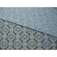 Buy cheap Royal Blue Cotton Nylon Lace Fabric Snowflake Design Dress Material from wholesalers