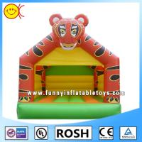 Buy cheap PVC Tiger Inflatable Combo Bouncers Rectangle Bounce House Games from wholesalers