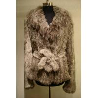 Buy cheap Knitted Chinchilla Rabbit Fur Coat from wholesalers