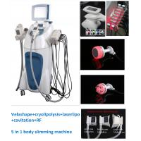 Buy cheap 5 in 1 Velashape+cryolipolysis +laserlipo+cavitation+RF body slimming Machine from wholesalers