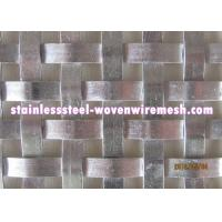 Buy cheap Flat Wire Woven Decorative Metal Mesh Panels , Custom Woven Wire Cloth from wholesalers