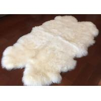 Buy cheap Real Sheepskin Rug Customized Size 110 x180cm Australia Long Wool Hides Rug from wholesalers