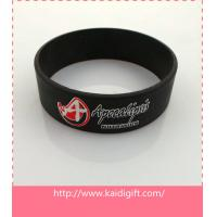 China Custom debossed silicone wristband, cheap custom silicone bracelet on sale