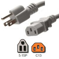 Buy cheap UL Listed Computer Plug Power Cord , NEMA 5 - 15P to IEC C13 13A Power Plug from wholesalers