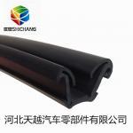 Buy cheap Flock lined sliding window channel / window rubber waterproof flocked channel from wholesalers