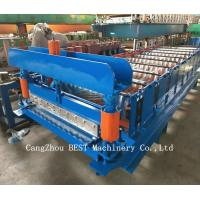 Buy cheap Corrugated Roof Sheet Steel Making Roll Forming Machine Hydraulic Cutting from wholesalers