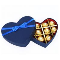 Buy cheap Luxury Fancy Heart Shaped Packing Chocolate Gift Box Custom Paper Packaging Box/Food/Cake/Pizza/Chocolate Boxes from wholesalers