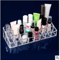 Buy cheap 1034 acrylic makeup organizer 24 grids cosmetic storage box jewelry makeup organizer from wholesalers