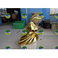 Buy cheap animal golden elephant head statue/sculpture as decoration in hotel mall display model from wholesalers
