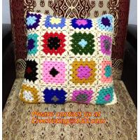 Buy cheap fashion crochet cushion lace pillow for home decoration colorful cushion cover pillow cove from wholesalers