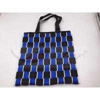 Two Tone Nylon Webbing Polyester Handbags For Shopping Customized Design