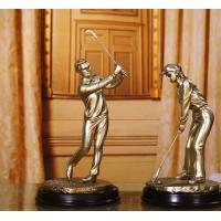 Buy cheap golf resin Figure sculpture craftwork Decoration from wholesalers