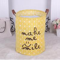 Buy cheap Cheap colorful foldable canvas kid toys storage basket for sale,Canvas Fabric Laundry Bucket Storage Basket With Twist C from wholesalers