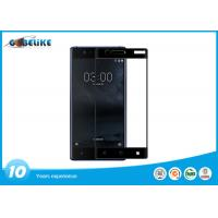Buy cheap Full Cover Tempered Glass Screen Guard , OEM Silk Print Nokia 3 Screen Protector from wholesalers