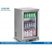 Buy cheap Stainless Steel Door Kitchenaid Undercounter Refrigerator Double Layer Glass from wholesalers