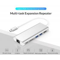Buy cheap 6 in 1 USB C HUB USB-C to HDMI Card Reader RJ45 PD Adapter for MacBook Samsung Galaxy S9/S8 Huawei Mate10 Type-C Chargin from wholesalers