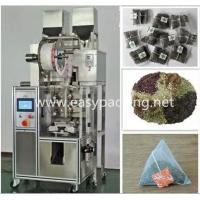 Buy cheap Eletctronic sclae automatic pyramid nylon tea bag packing machine with envelop from wholesalers