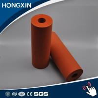 Buy cheap Custom Red Color Aluminum Core Silicone Rubber Coating Rollers from wholesalers