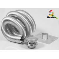 Buy cheap Semi - Rigid Heat Resistant Flexible Ducting Aluminum Extendable Easy Installation from wholesalers