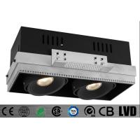 Buy cheap Trimless Double Head 14W 180mA LED Recessed Downlight Aluminum 30 deg Tiltable Hotel from wholesalers