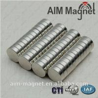 Buy cheap 10mm dia x 0.6mm thick permanent magnet /n52 neodymium magnet from wholesalers