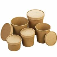 Buy cheap Different capability kraft paper cup leakproof take away food seal packaging wholesale retail supplier from wholesalers