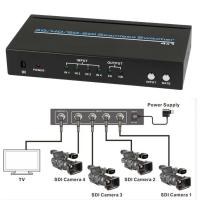 Buy cheap SDI 4x1 Hdmi Multiviewer Seamless Video Switcher Scaling 1080P IR Remote 100m product
