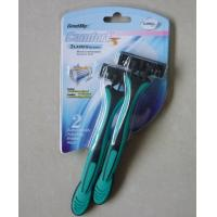 Buy cheap triple blade disposable razor with lubricating strip from wholesalers