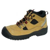 Buy cheap Anti Impact Mens Brown Leather Work Shoes , Practical Fashionable Composite Toe Shoes from wholesalers