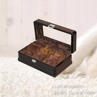 Buy cheap Luxury High Gloss Ebony Wooden Watch Display Storage Gift Box with 3 Slots, with Glass Window on Lid. product