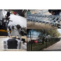 Buy cheap Steel Hercules Security Fencing Slanted Tubular Palisade Fences Ornamental Wrought Iron Panels from wholesalers