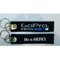 Buy cheap Be A Hero Go Pro Or Go Home Fabric Embroidery Keychain Key Ring from wholesalers