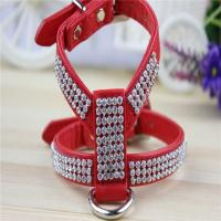 Buy cheap High Grade Crystal Rhinestone Decorated PU Leather Dog Pet Harnesses for Small and Medium from wholesalers